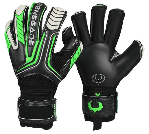 Renegade GK Vulcan Goalie Gloves with Microbe-Guard & 3.5+3MM Hyper Grip