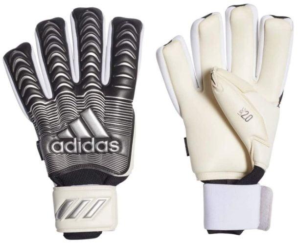 adidas Classic PRO FINGERSAVE Goalkeeper Gloves Size 7.5 White-Black-Silver