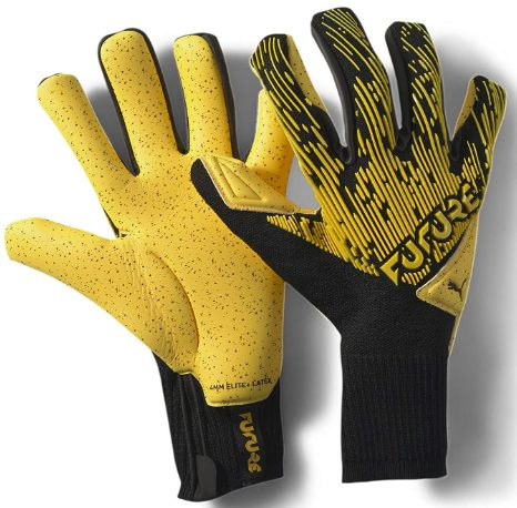 PUMA Future Grip 1 GCIC Hybrid Goalkeeper Gloves Size 7 YellowBlack