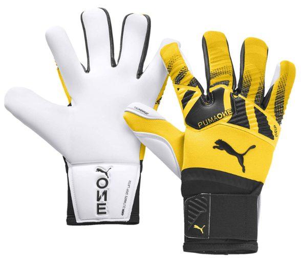 PUMA ONE Grip 1 Hybrid Pro Goalkeeper Gloves - Yellow-Black 10