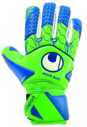 uhlsport AQUASOFT HN Negative Cut Wet Weather Grip Windbreaker Goalkeeper Gloves for Soccer